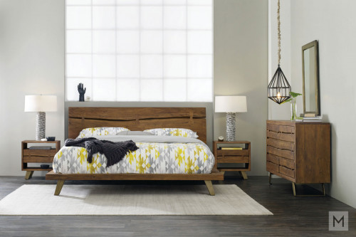 Transcend King Platform Bed made of Acacia Wood