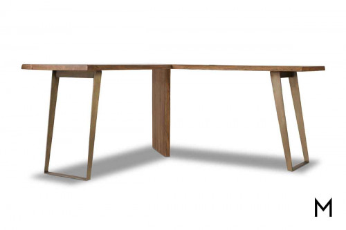 Transend L-Shaped Desk made of Acacia Wood
