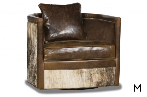 Barrel Swivel Accent Chair