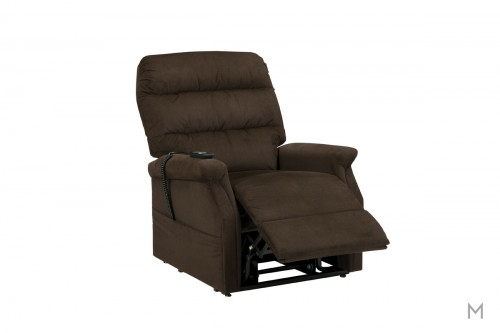 Brenyth Power Lift Chair in Chocolate Brown