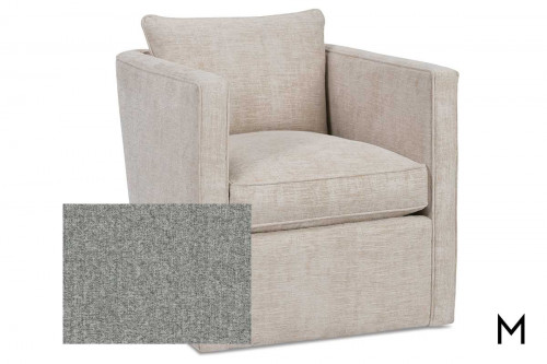 Roth Swivel Accent Chair in Grey