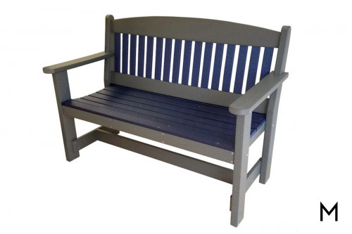 Blue with Dark Gray Bench