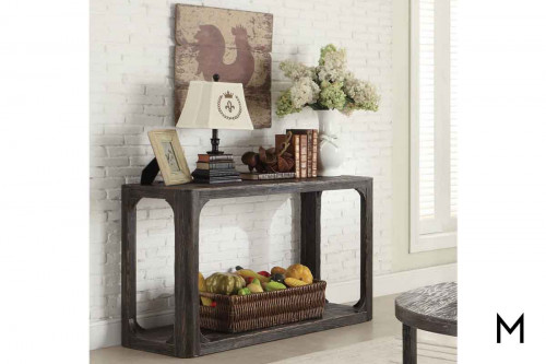 Bellagio Sofa Table in Weathered Black