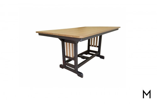 "Counter Height Dining Table 44""x72"" in Mahogany and Black"