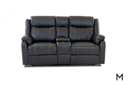 Domino Reclining Loveseat with Console