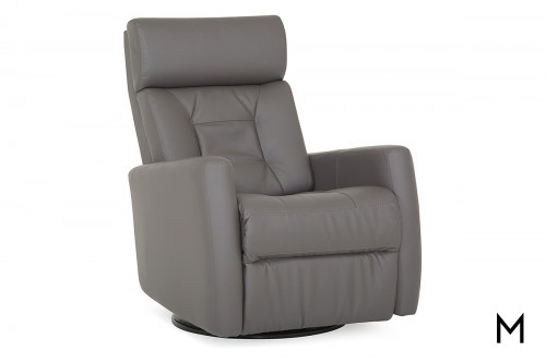 Leather Swivel Power Recliner