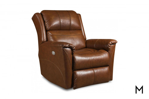 M Collection Shimmer Rocker Recliner with Power Headrest