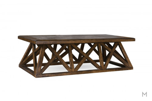 Echo Park Coffee Table with Inlaid Acid-Washed Bluestone