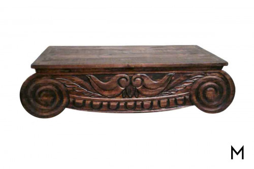 Carriage Coffee Table in Brown