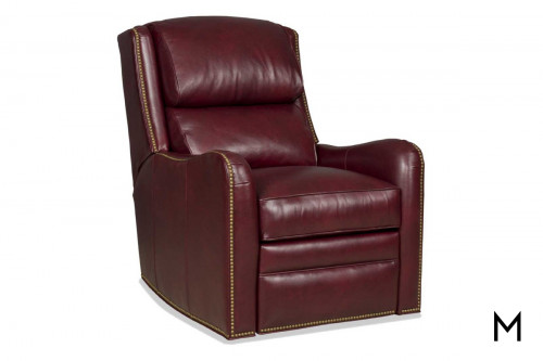 Henley Swivel Glider Recliner with Nailhead Trim