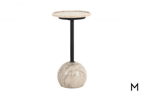 Vintage Marble Accent Table