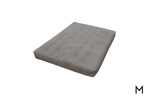 Foam Futon Mattress in Silver Tweed