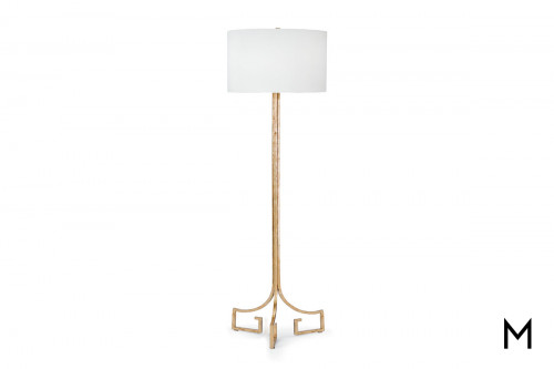 Greek Key Base Floor Lamp