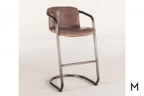 Portofino Antique Bar Chair in Brown