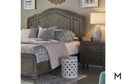 Scalloped Queen Panel Bed