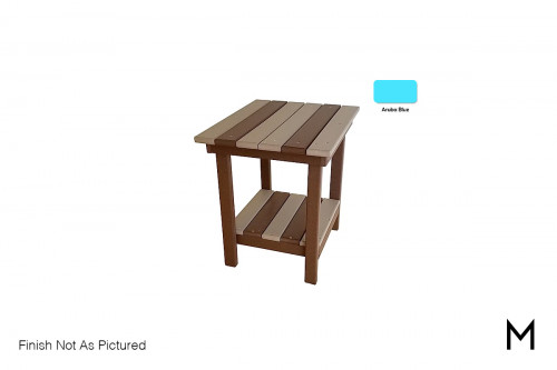 Outdoor End Table in Aruba Blue