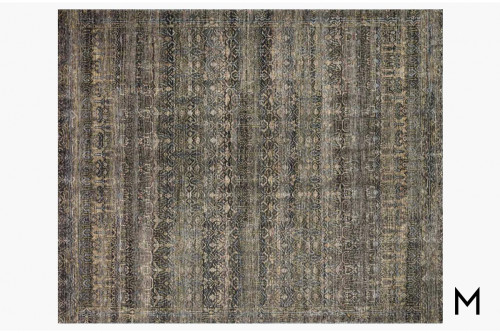 Amara Area Rug 8'x10' in Charcoal and Lagoon