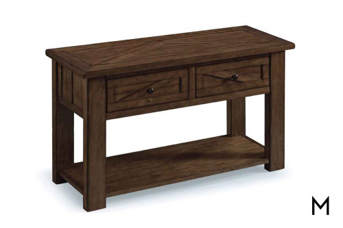 Fraser Console Table in Rustic Pine