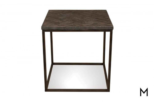 Chevron End Table
