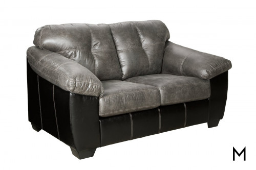 Gregale Loveseat in Slate Grey