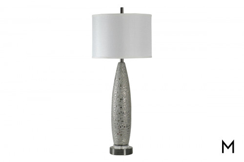 Metallic Ceramic Table Lamp
