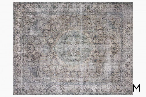 Layla Area Rug 5'x8' in Taupe and Stone