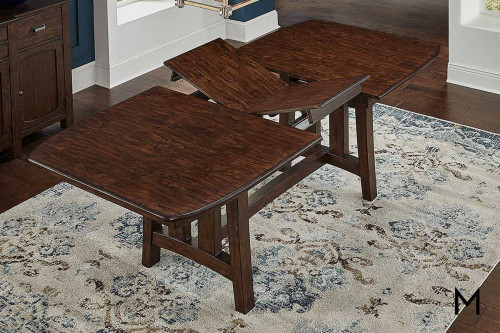 "Henderson Trestle Table with 18"" Butterfly Leaf"