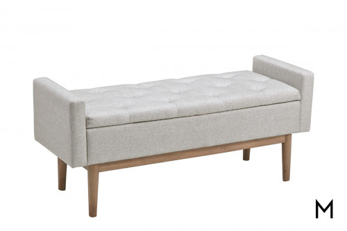 Tufted Top Storage Bench