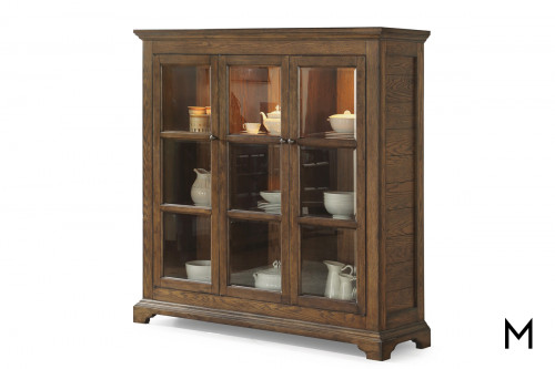 Arts and Crafts China Cabinet with Glass Front Doors
