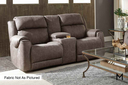 M Collection Safe Bet Reclining Loveseat with Console