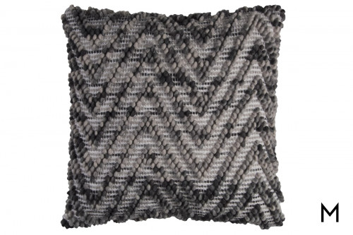 "Knotted Chevron Accent Pillow 20""x20"""