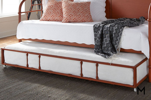 Vintage Twin Trundle in Orange