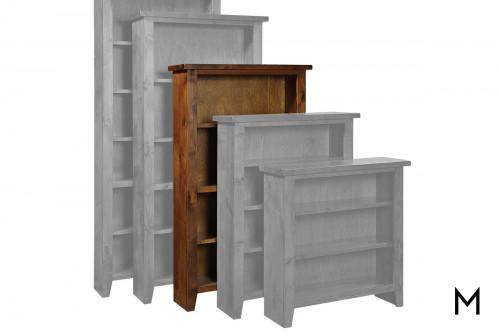 """Alder 60"""" Tall Bookcase with Tobacco Finish"""