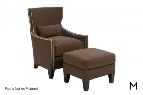 Tribeca Accent Chair with Nailhead Trim