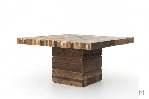 "Tahoe 58"" Square Dining Table made of Reclaimed Wood"