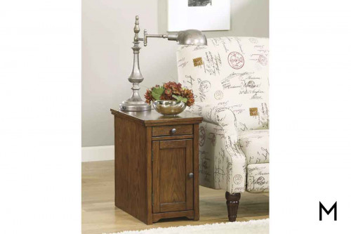 Laflorn Chairside End Table with USB Charging Station
