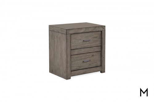 Modern Loft 2 Drawer Nightstand with Power