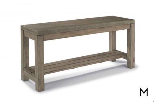 Keystone Console Table with Distressed Wood Finish and Concrete