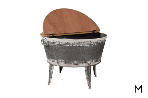 Tub Accent Table with Storage