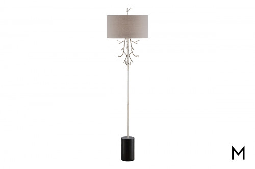 Rowan Floor Lamp with Black Marble Base