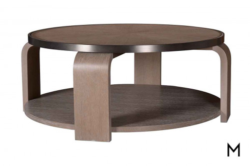 Greenpoint Round Cocktail Table in Sandstone