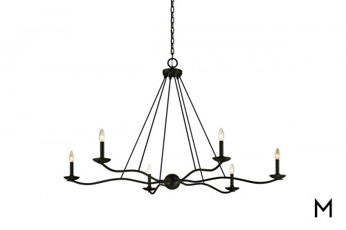 Forged Iron 6-Light Chandelier