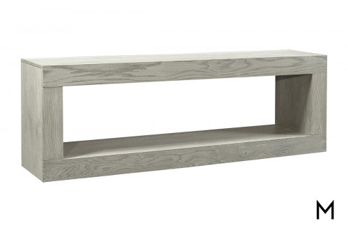 "Alder 74"" Open Console in Heather Gray"