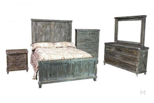 M Collection Industrial King Bedroom Set