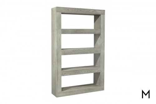"Nova Open Shelves 83"" Display Case in Heather Gray"