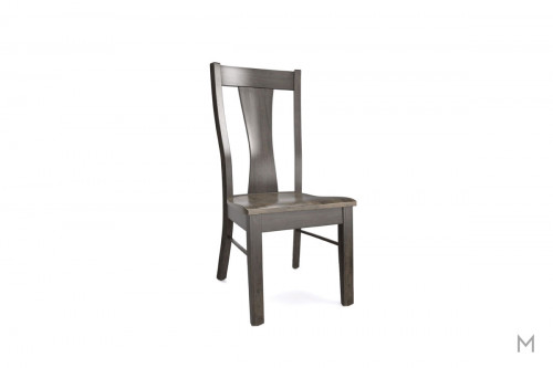 Boone Dining Side Chair in Two-Tone Gray