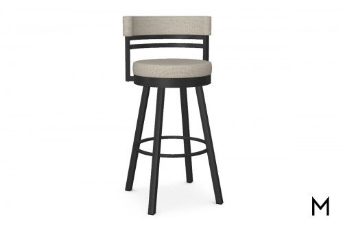 Ronny Swivel Bar Stool in CB Pebble
