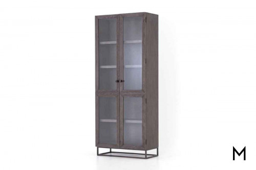 Garner Cabinet with Metal Base and Glass Doors