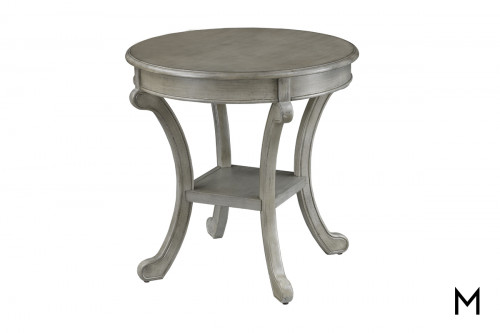 Round Accent Table in Gray