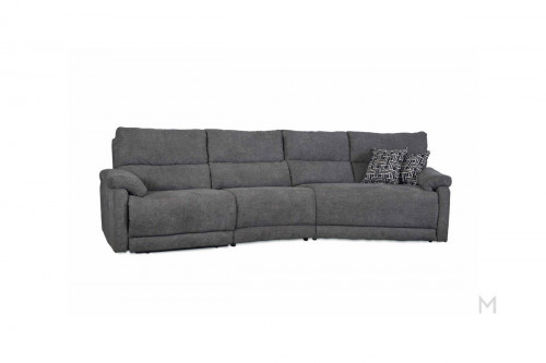 M Collection Top Secret Reclining Sofa with Powerhead